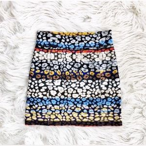 Clover Canyon leopard stripe mini skirt